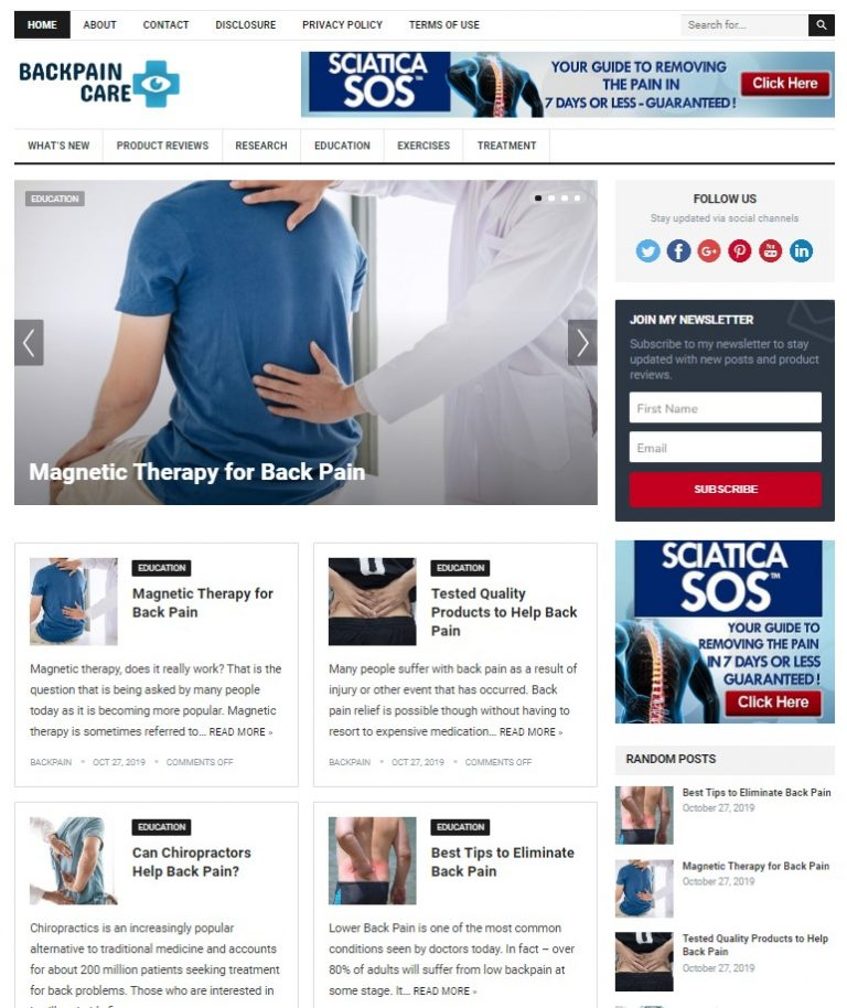 backpain wp theme