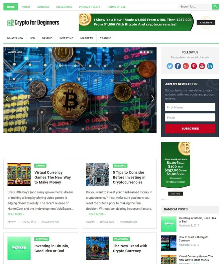 crypto wp theme