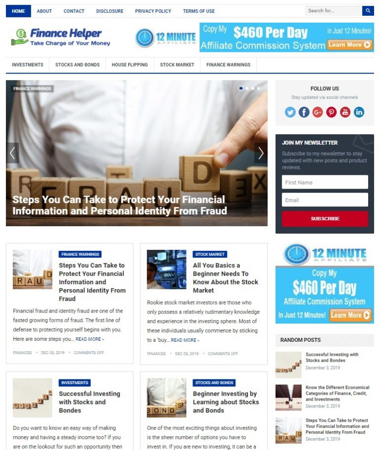 financial wp theme