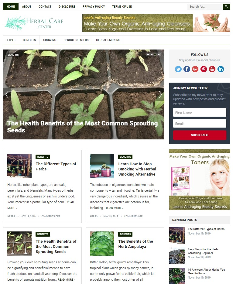 herbs wp theme