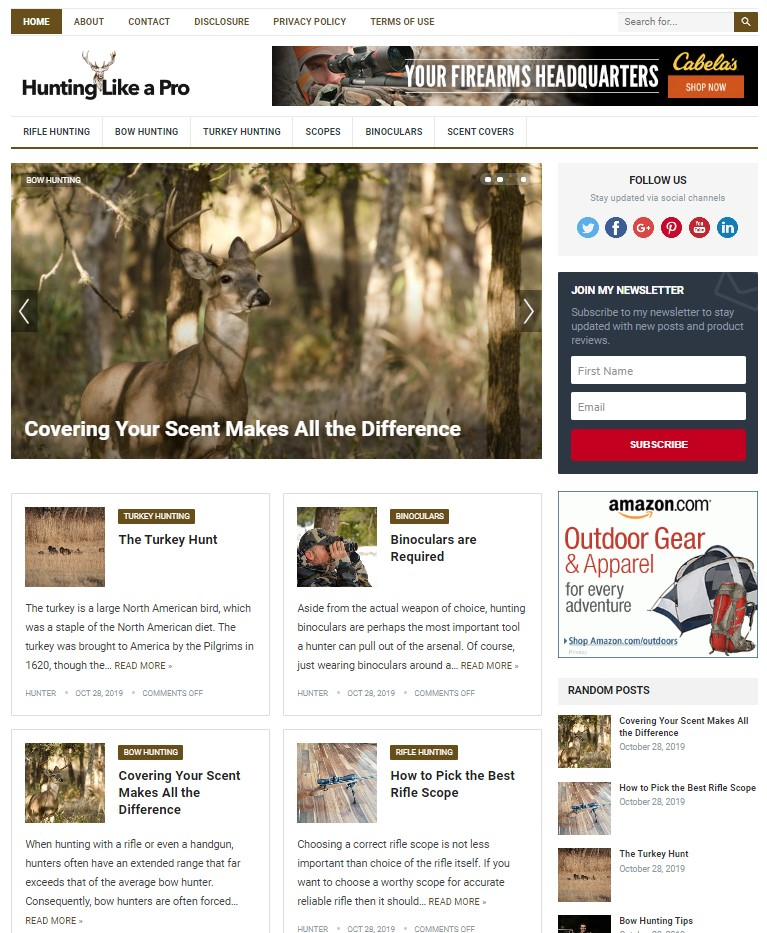 hunting wp theme