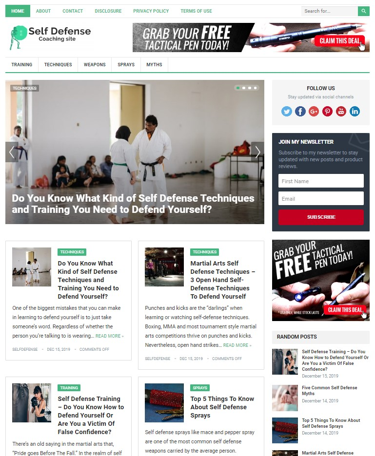self defense wp theme
