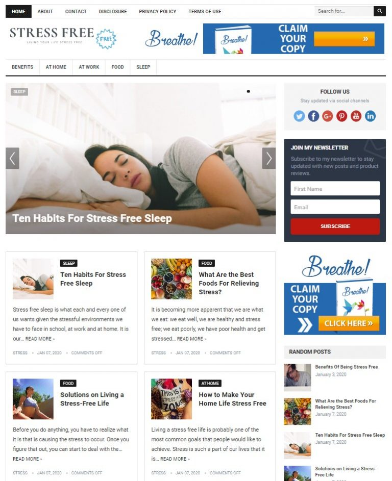 stress free wp theme